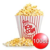 Great Western 83-DT5146 Open Top Movie Theater Popcorn Bucket, 100 Count, 85 Oz