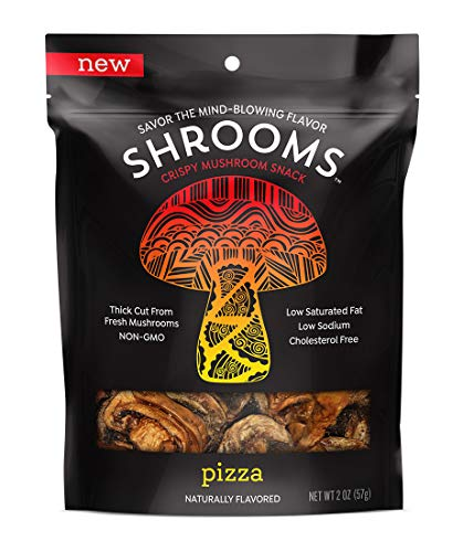 Shrooms Vegan Mushroom Crisps | Superfood Snack Made with Fresh Mushrooms | Non-GMO, Dairy, Gluten, Soy, and Trans Fat Free | No Preservatives, Artificial Colors or Flavorings | Pizza