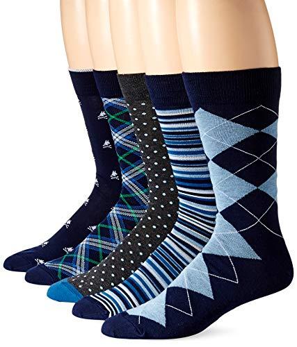 Nick Graham Men's Contemporary Crew Dress Socks, Asst 98, (5 Pairs)