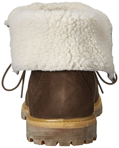 Wheat Stivali Auth Donna Wp Fleece Marrone Teddy Timberland Buio WIqO1q