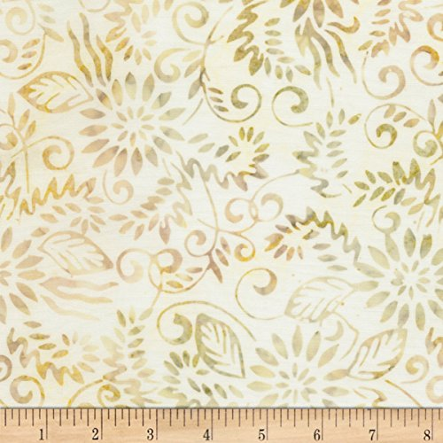 Timeless Treasures 106inBatik Wide Back Fairytale Coconut Fabric By The Yard Coconut Fabric