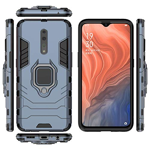 QiongNi Case for Oppo Reno Z PCDM10 PCDT10 CPH1979 Case Cover,360 Degree Rotating Ring Holder Kickstand with Magnetic…