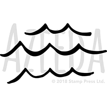 a3 ocean waves wall stencil template ws00032822 amazon co uk