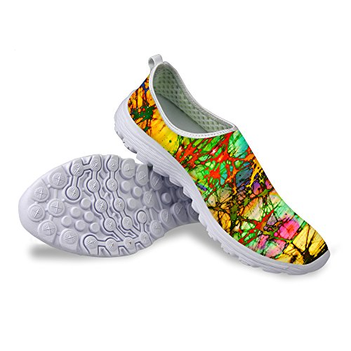 Voor U Ontwerpen Mode Graffiti Patroon Ademend Mesh Comfortabele Slip Op Dames & Heren Loopschoenen Multi 5