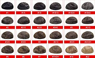 Lordhair Ultra Thin Skin Toupee for Men #1B Off Black 8*10 Inches