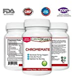 Green Organics Chromemate Chromium Supplement To Maintain Healthy Blood Sugar Level, Normal Body Weight And Optimal Energy (1350 mg daily, 120 Capsules)