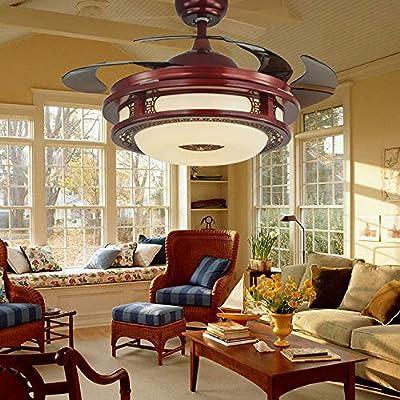 XAJGW Araña LED de 42 pulgadas ventilador de techo luz ventilador ...