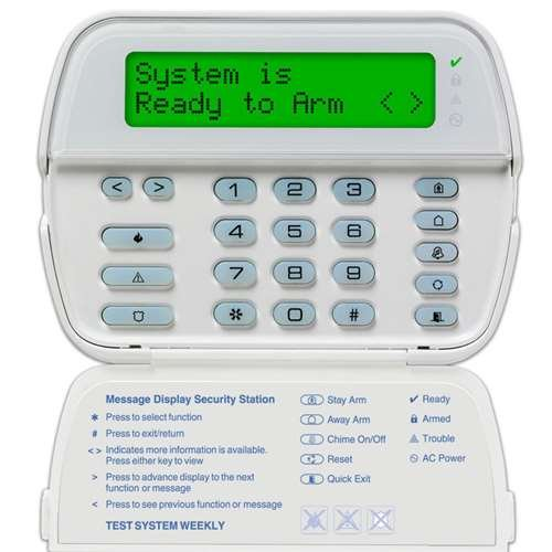 Dsc Wireless Receiver (DSC RFK5564 Sixty-Four Zone Programmable LCD Keypad With Built In Wireless Receiver)