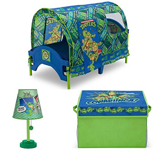 Nickelodeon Teenage Mutant Ninja Turtles Toddler Tent Bed with Collapsible Toy Storage box and Kids Heroes  sc 1 th 225 & Ninja Turtle Tent Bed