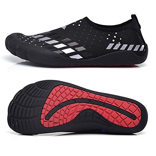 Water Athletic Quick Shoes Sport Lightweight Yoga Shoes White1 Sock Aqua Swim Beach For Dry Skin JACKSHIBO Surf 0PdSxtqd