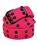 canvas grommet belt - Eurosport Premium Canvas Grommet Belt - WB211 - Neon Pink XL