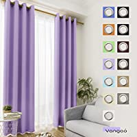 Vangao Light Blocking Lilac Blackout Curtains Girls Room...