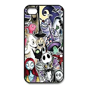 iphone4 4s case (TPU), nightmare before christmas art Cell phone case Black for iphone4 4s - FGHJ8978500