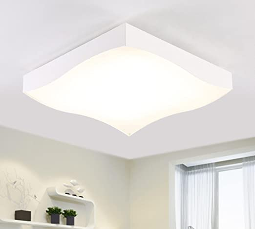 LED Ceiling Light Living Room Atmospheric Rectangle Color Changing Modern Simple Art Bedroom