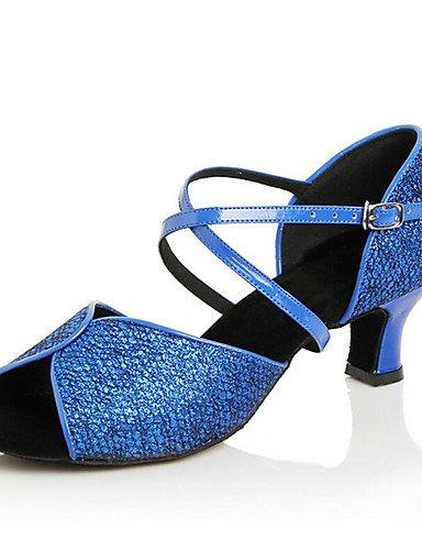 La mode moderne Non Sandales Chaussures de danse pour femmes personnalisables en cuir Cuir /latine Chaussures de Talon pratique moderne,or,US4-4.5/EU34/UK2-2.5/CN33