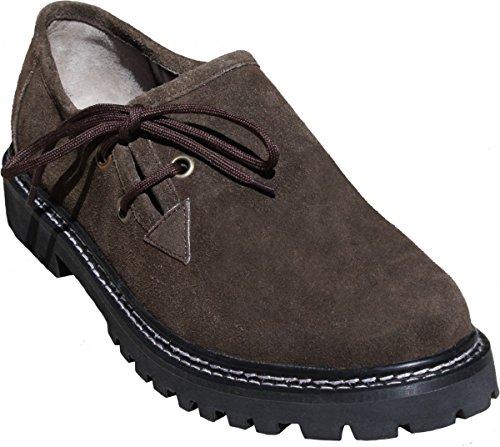 Trachtenschuhe Haferlschuhe Lederschuhe Trachten Schuhe Braun, Schwarz & Kastanienbraun, Schuhgröße:44;Frabe:Dunkelbraun