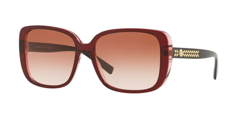 Transparent//Red Frame Versace VE4357 Sunglasses 529013-56 Pink Gradient VE4357-529013-56
