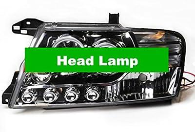 GOWE Deluxe Luxury Angel Eyes Projector Head Lamp LED Daytime Running for Mitsubishi Pajero Montero Shogun III 2000 - 2008