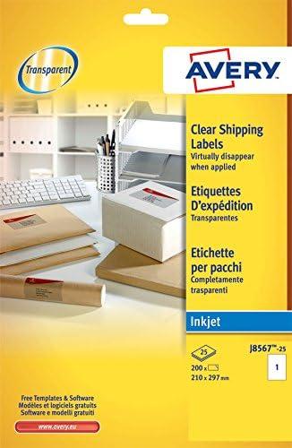 Avery España J8567-25 - Pack de 25 folios de etiquetas ...