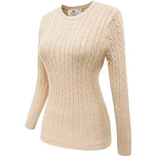 Nice For G and PL Women Vintage Casual Crewnecks Knitted Sweater hot sale