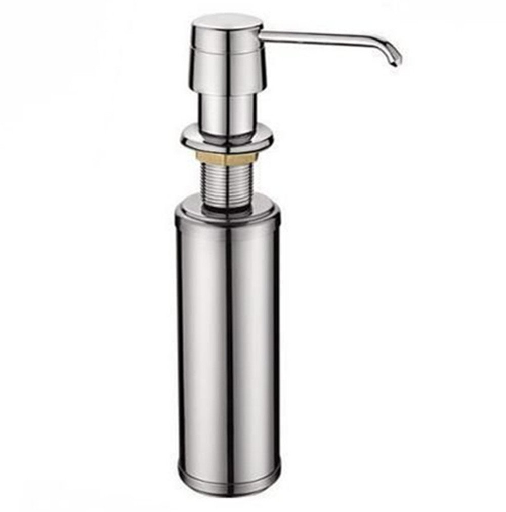 Siderit Lead-Free Brass Sink Soap Dispenser, Kitchen/Bath Soap Lotion Pump Dispenser With 12 OZ Stainless Steel Bottle, 3 Inch Nozzle