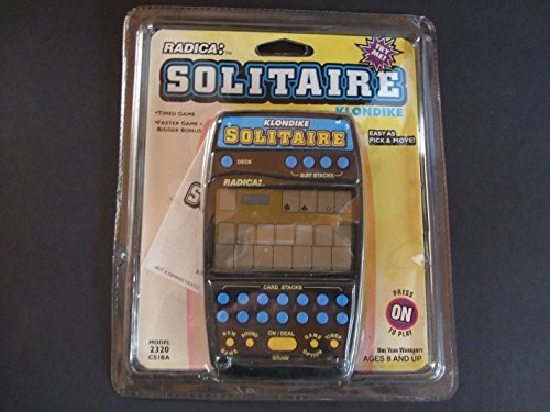 2-in1 Klondike Solitaire Handheld Game (Radica #2320) by Radica