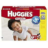 HUGGIES Snug & Dry Diapers, Size 4, 172 Count