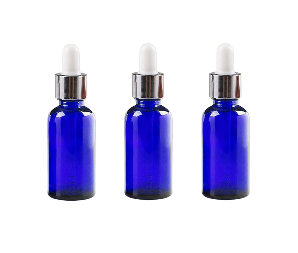 2ac4b29defb6 3PCS 0.5oz Empty Refillable Glass Dropper Bottle Jars with Glass Eye  Dropper Essential Oil Perfume...
