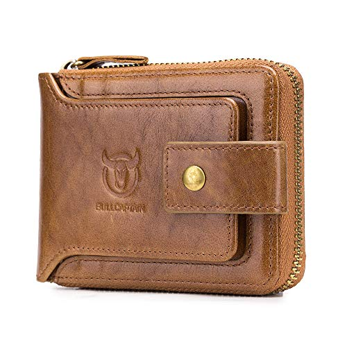 NaSUMTUO Mens Wallet RFID Blocking Minimalist Vintage Cowhide Leather Wallet