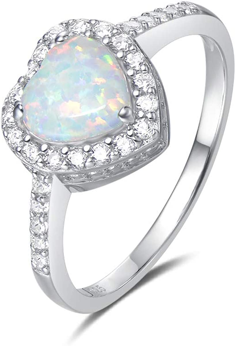 romantic gift ideas opal silver jewelry October birthstone jewelry Opal sterling silver ring birthday gift for her opal jewelry