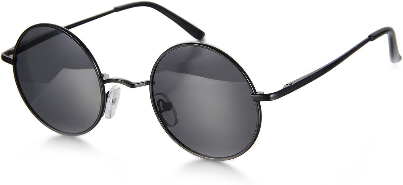 Aroncent Gafa de Sol Polarizada Retra contra UV400 Lente Redonda de Resina Protección de Ojos para Carreras, Viaje, Conducción, Golf, y Actividades Exteriores para Hombre Mujer Unisex – 3PCS