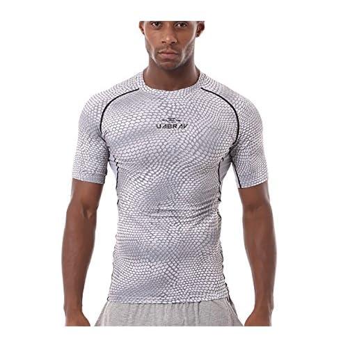 T-shirt de course à pied à manches courtes respirant T-shirt pour les hommes d'exercice et de fitness Polyester blanc noir