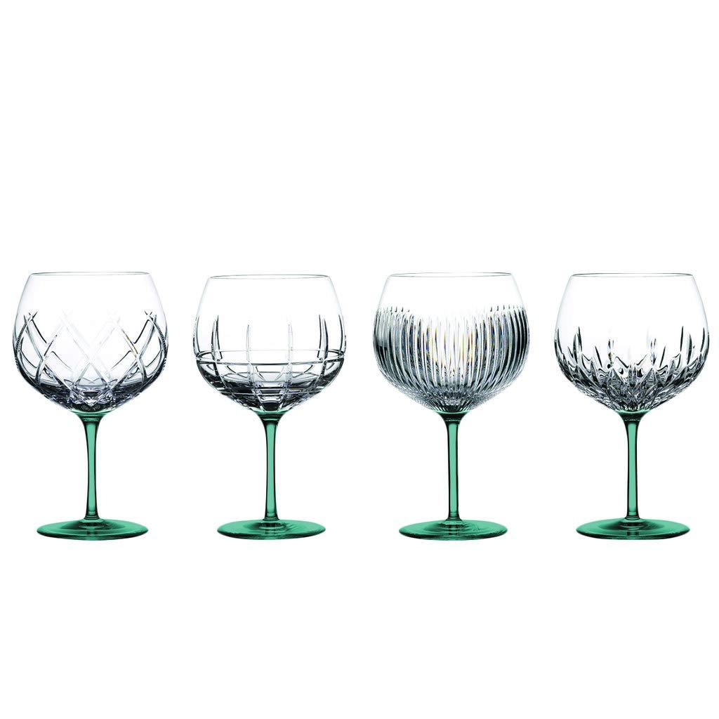 TableTop King ジン ジャーニー バルーン ワイングラス 4個セット アクアフル カラー TTK-GBWES-12  Aqua Bottom B07QMZ55X4