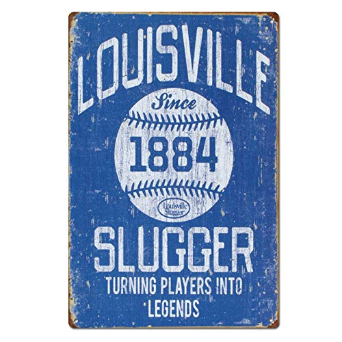 Vintage Louisville Slugger Baseball Sports Tin Sign Metal Sign Metal Decor Wall Sign Wall Poster Wall Decor Door Plaque TIN Sign 7.8X11.8 INCH