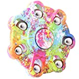 DSSY New Style Round Fidget Hand Toy Fingertip Spinner Stress Relief Anxiety Relief Toy Camo Color (Multicolor 02)