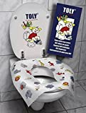 Cubreasiento para WC Biodegradable Toly Kids (3 Paquetes de 10 unid/paquete)