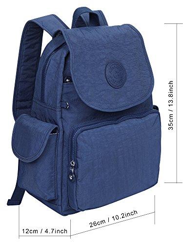 À Femmes poches Sac Kipig D'école Dames L'eau Multi Petit Léger Les Robuste Sacs Daypack Filles gris Dos Imperméable Pour Nylon bleu Loisir 8015 EwXOHdx