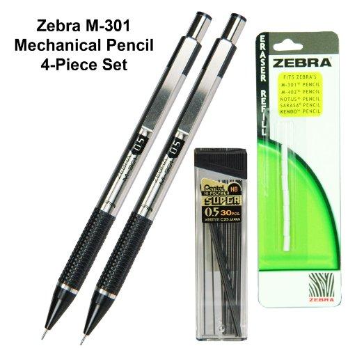 Zebra M-301 Mechanical Pencil, 0.5mm., 4-piece Set