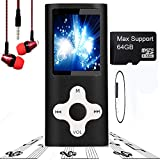 MP3 Player/MP4 Player, Hotechs MP3 Music Player Slim Classic Digital LCD 1.82'' Screen MINI USB Port with FM Radio, Voice record