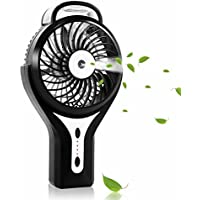 Esup Handheld Battery Operated Misting Fan, Mini Portable Water Spray Fan, Cooling Fan for Home Office and Travel (Black), Perfect Fathers Day Gifts