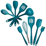 StarPack Value Bundle 0030-5-Pc Silicone Kitchen Utensils (10.6') and 5-Pc Silicone Baking Utensils (10.6') - Teal Blue
