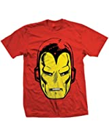 Marvel Herren T-Shirt Iron Man Big Head