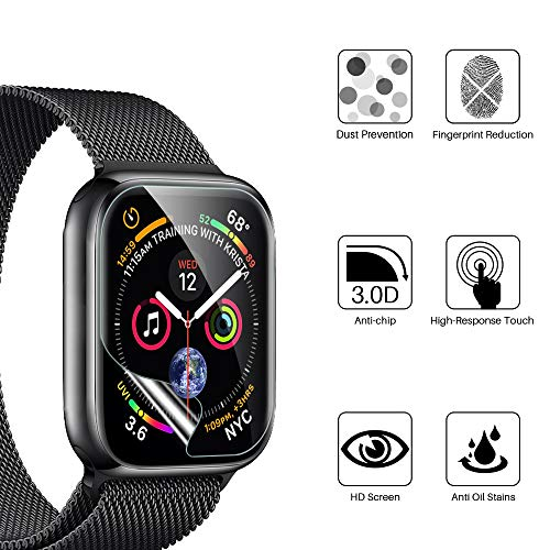 [6 Pack] LK Screen Protector for Apple Watch 38mm/Apple Watch 40mm Series 6/SE/5/4, [Model No. LK0541][Korean Material], [Case Friendly] [Bubble Free] HD Clear Flexible TPU Film
