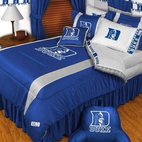 NCAA Duke Blue Devils King Bedding Set College Football Team Logo Bed by NCAA