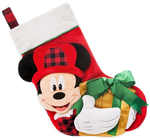 Holiday Mouse Personalized Mickey (Disney Store Mickey Plush Holiday Christmas Stocking 2017)