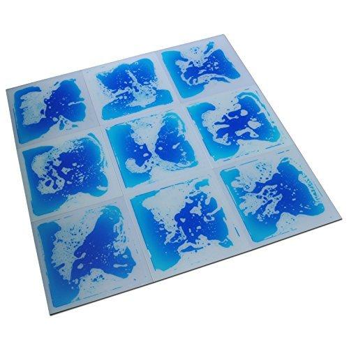 Image of Baby Art3d Fancy Floor Tile for Kids Room Liquid Encased Floor Tile, 12' X 12' Blue (9 Tiles)