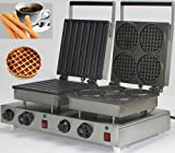 NP583Double heads Cute design electric waffle maker & Stainless steel Spain churros machine for sale