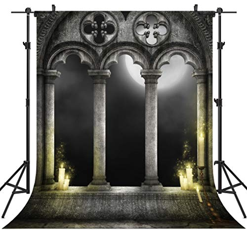 OUYIDA Halloween Pumpkin Theme 5x7FT Pictorial Cloth Customized Photography Backdrop Background Studio Prop TP78A -