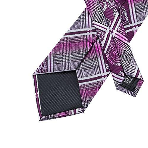 hi-tie Paisley corbata pañuelo gemelos Jacquard tejido de seda corbata 4CIzISTcLg