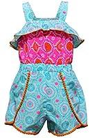Youngland Little Girls 2T- 6X Printed Romper- Kids Playwear